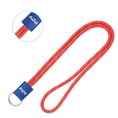 Tweekleurige lanyard met PVC badge