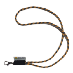 Tube lanyard met label
